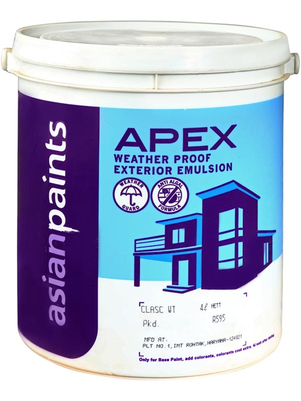 Buy asian paints apex 4 ltr classic white exterior emulsions best prices industrybuying - Asian paints for exterior pict ...