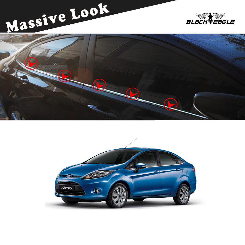 Buy Ford Fiesta New Chrome Lower Window Garnish Trim Set Of 4 Best Prices Industrybuying