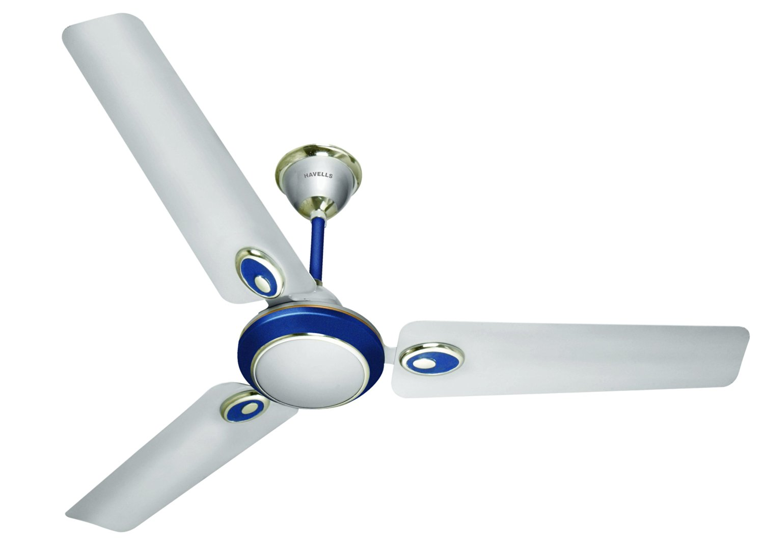 Buy Havells Ceiling Fan 1200 mm Five Star FUSION Silver Blue @ Best ...