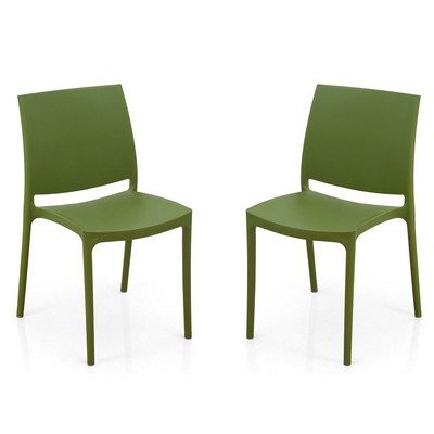 Buy Nilkamal Green Novella Without Arm Cushion Chair Set Of 2 Flocnovla2kit8005 Best Prices