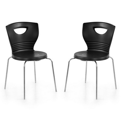 Buy Nilkamal Black Novella Without Arm Cushion Chair Set Of 2 Flocnovla2kit15ibk Best Prices