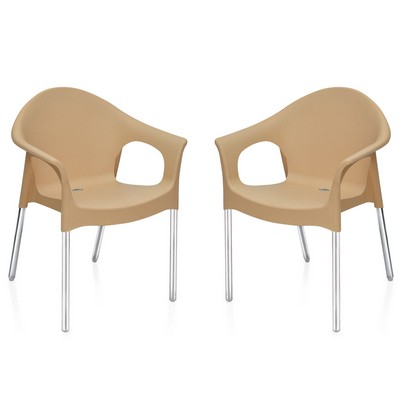 Buy Nilkamal Biscuit Novella With Arm Without Cushion Chair Set Of 2 Flocnovlaw2kit9003 Best