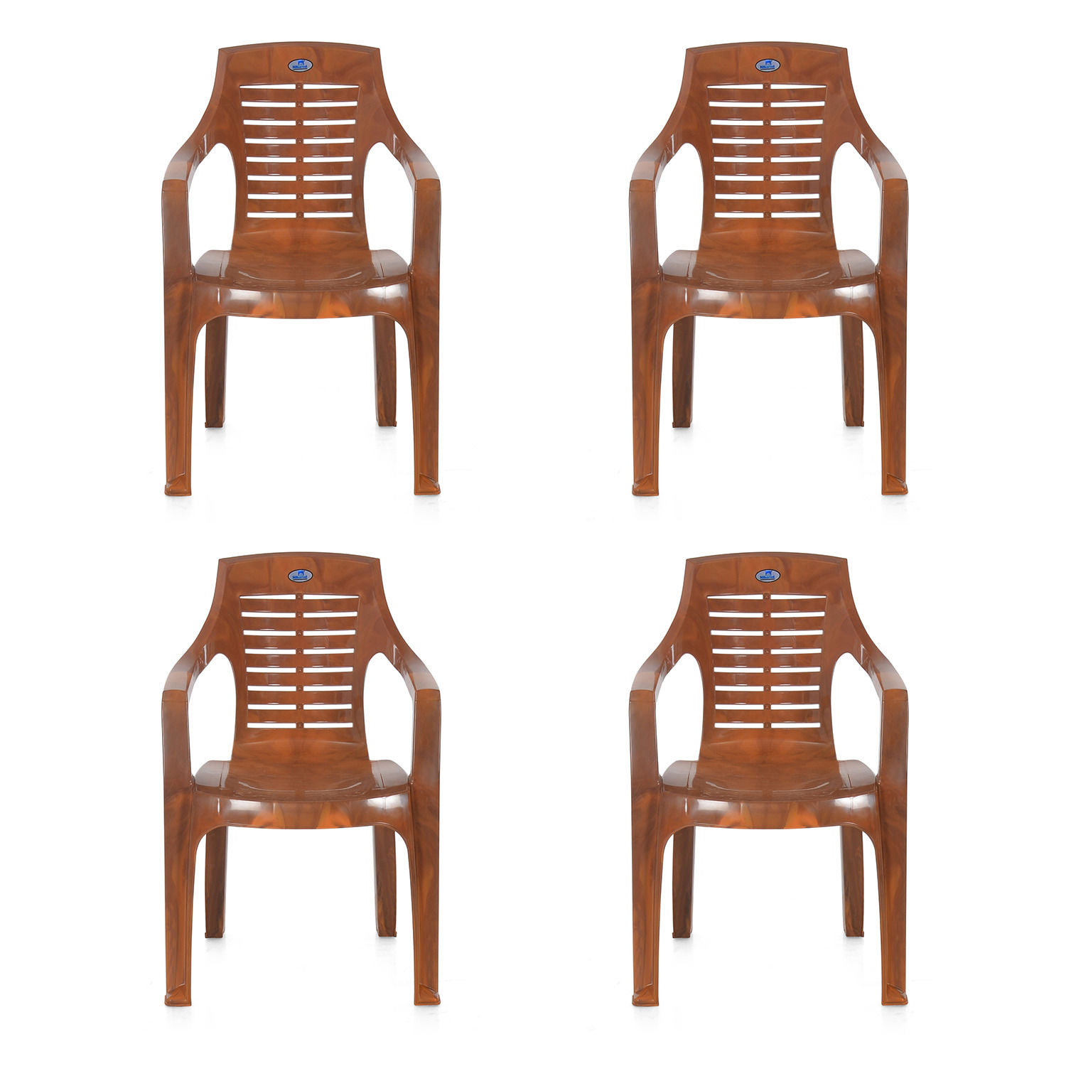 Buy Nilkamal Mango Wood Mid Back Chair Set Of 4 Flocchr6020kit4mwd Best Prices Industrybuying