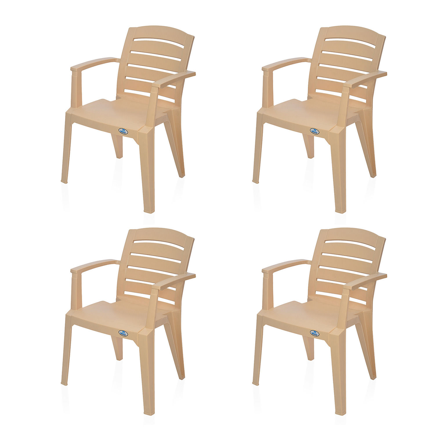 Buy Nilkamal Biscuit Passion Garden Chair Set Of 4 Flocpason4kitbst Best Prices Industrybuying