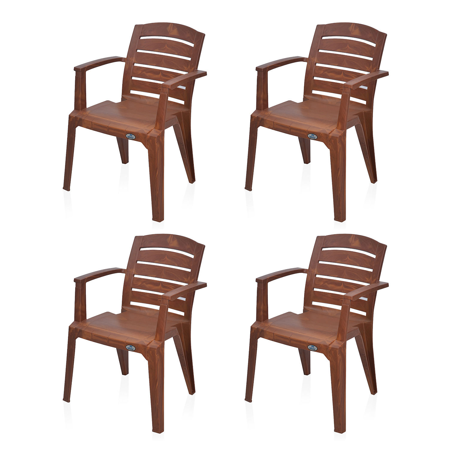 Buy Nilkamal Mango Wood Passion Garden Chair Set Of 4 Flocpason4kitmgwd Best Prices Industrybuying