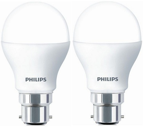 Buy Philips 4W B22 Pin Type 2 Pcs White LED Bulb @ Best Prices-Industrybuying