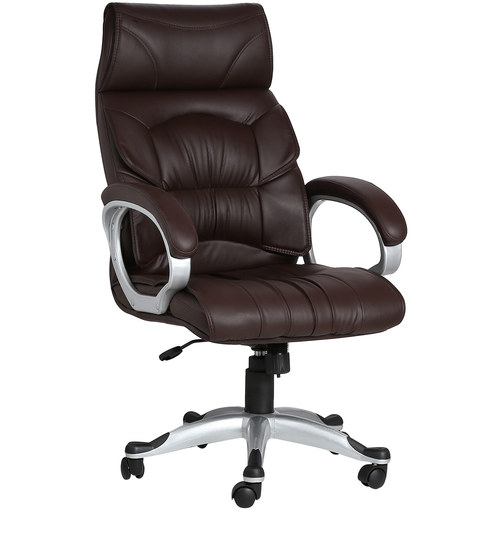 online office furniture buy vj interior doblepiel brown color executive chair 24048