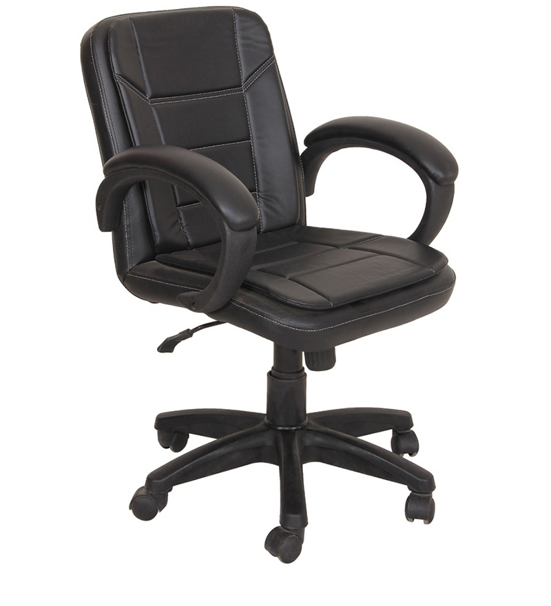 Buy Divano Black Color Modular Office Chair DM46 Best Prices Industrybuying