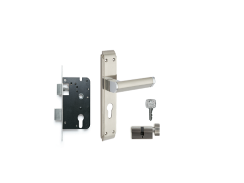 Buy Godrej Neh 01 Door Handle Combi Set 2c Lock 7513