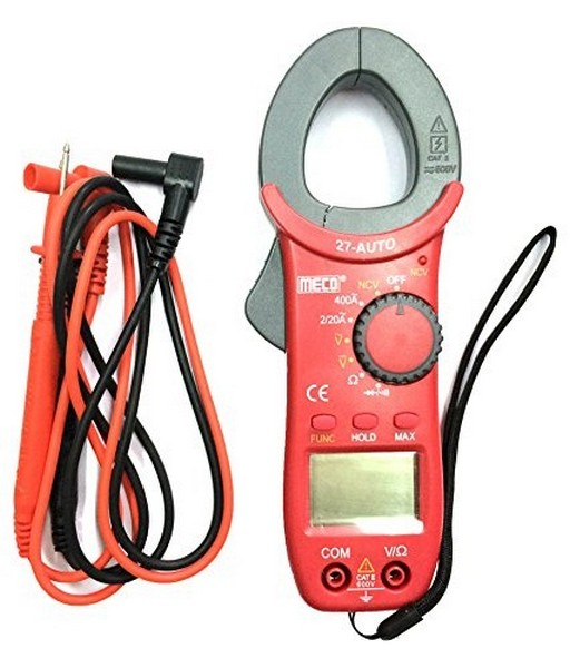 A Digital Clamp Meter 400 : Buy meco auto digital ac clamp meter a v best