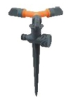 Spanco Plastic Spike Sprinkler With 3 Arms SP-1010