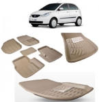 Black Eagle 3D Mat For Tata Indica Vista Beige SNDCOM00096