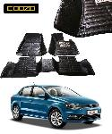 Coozo Black Color 5D Car Mat For Volkswagen Ameo