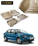 Coozo Beige Color 5D Car Mat For Volkswagen Ameo
