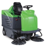 IPC Ride On Sweeper Dual Power With Battery & Charger 1250 DP
