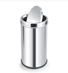 Parasnath Dustbin Plain Swing Bin Stainless Steel Dustbin 14x24 Inch