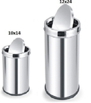 Parasnath Dustbin Swing Bin Stainless Steel Dustbin 10x14 Inch , 12x24 Inch
