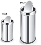 Parasnath Dustbin Swing Bin Stainless Steel Dustbin 8x12 Inch , 14x28 Inch