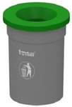 Frontier Round Bin With Funnel Shaped Lid Capacity - 80 Ltrs FLB-80