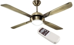 Havells Avion With U/L 1320 Mm 4 Blades Antique Brass Finish Ceiling Fan FHCAVULABR52