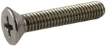 RAJ Stainless Steel CSK Philips Machine Screw (Metric Thread) (Dia 4.00 Mm Length 25.00 Mm)