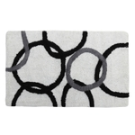 Style Homez Luxurious Hand Tufted Soft Feel Cotton Bath Mat, White Color - FU_BE_MA_462871