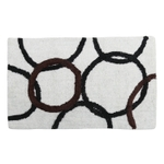 Style Homez Luxurious Hand Tufted Soft Feel Cotton Bath Mat, White Color - FU_BE_MA_462873