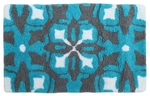 Style Homez Luxurious Hand Tufted Soft Feel Cotton Bath Mat, Turquoise Color - FU_BE_MA_462886