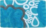 Style Homez Luxurious Hand Tufted Soft Feel Cotton Bath Mat, Turquoise Color - FU_BE_MA_462890