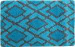Style Homez Luxurious Hand Tufted Soft Feel Cotton Bath Mat, Turquoise Color - FU_BE_MA_462998