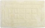 Style Homez Luxurious Hand Tufted Soft Feel Cotton Bath Mat, Cream Color - FU_BE_MA_463002