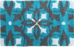 Style Homez Luxurious Hand Tufted Soft Feel Cotton Bath Mat, Turquoise Color - FU_BE_MA_463004
