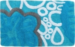 Style Homez Luxurious Hand Tufted Soft Feel Cotton Bath Mat, Turquoise Color - FU_BE_MA_463008