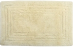 Style Homez Luxurious Hand Tufted Soft Feel Cotton Bath Mat, Cream Color - FU_BE_MA_463142