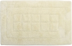 Style Homez Luxurious Hand Tufted Soft Feel Cotton Bath Mat, Cream Color - FU_BE_MA_463144