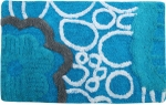 Style Homez Luxurious Hand Tufted Soft Feel Cotton Bath Mat, Turquoise Color - FU_BE_MA_463150