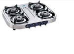 Glen Stainless Steel Cooktop With Auto Ignition Option (4 Burner) - GL 1044 SS AL AI