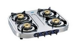 Glen Stainless Steel Cooktop With Auto Ignition Option (4 Burner) - GL 1044 SS BB
