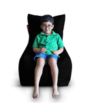 Style Homez (SH_BB_CH_XL_BLK_F_L) Size - XL Chair Bean Bag With Fillers - (Black)