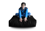 Style Homez (SH_FC_SQ_XL_BLK_F_L) Size - XL Square Floor Cushion With Fillers - (Black)