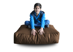Style Homez (SH_FC_SQ_XL_BRN_F_L) Size - XL Square Floor Cushion With Fillers - (Chocolate Brown)