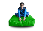 Style Homez (SH_FC_SQ_XL_GRN_F_L) Size - XL Square Floor Cushion With Fillers - (Parrot Green)