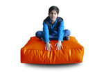 Style Homez (SH_FC_SQ_XL_ORG_F_L) Size - XL Square Floor Cushion With Fillers - (Orange)
