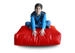 Style Homez (SH_FC_SQ_XL_RED_F_L) Size - XL Square Floor Cushion With Fillers - (Red)