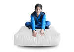 Style Homez (SH_FC_SQ_XL_WHT_F_L) Size - XL Square Floor Cushion With Fillers - (Elegant White)