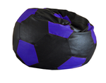 Style Homez SH_BB_FB_XXL_BLK-BLUE_E_L Black / Blue Football Bean Bag Cover (Size XXL)