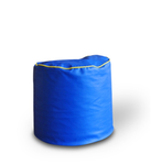 Style Homez SH_BB_RP_L_BLUE-YELPIP_E_L Royal Blue Round Ottoman Yellow Piping Cover (Size L)