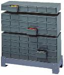 RS Pro Grey Steel 18 Drawer Storage Unit 279mm X 857mm X 295mm 005-95
