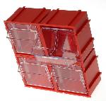 RS Pro PP 4Each Drawer Storage Unit Transparent Drawers 51299