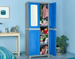 Nilkamal Freedom Big With 1 Mirror Storage Cabinet (Deep Blue Grey) FLPWFREDFB1DBLUNGY